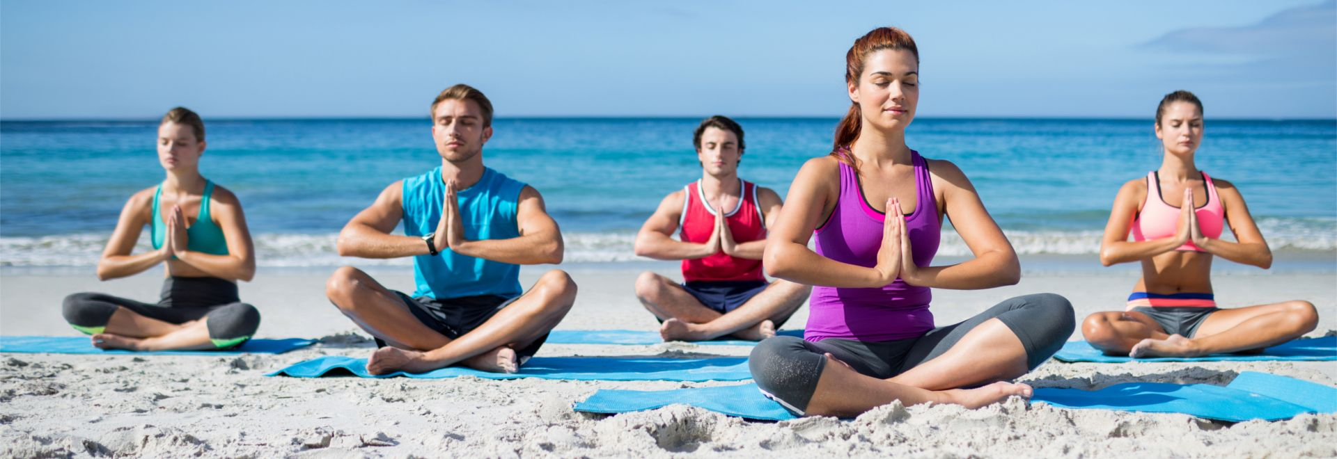 den Yoga-Kurs ans Meer verlegen